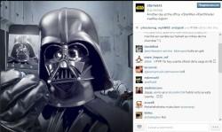 Дарт Вейдер в Instagram