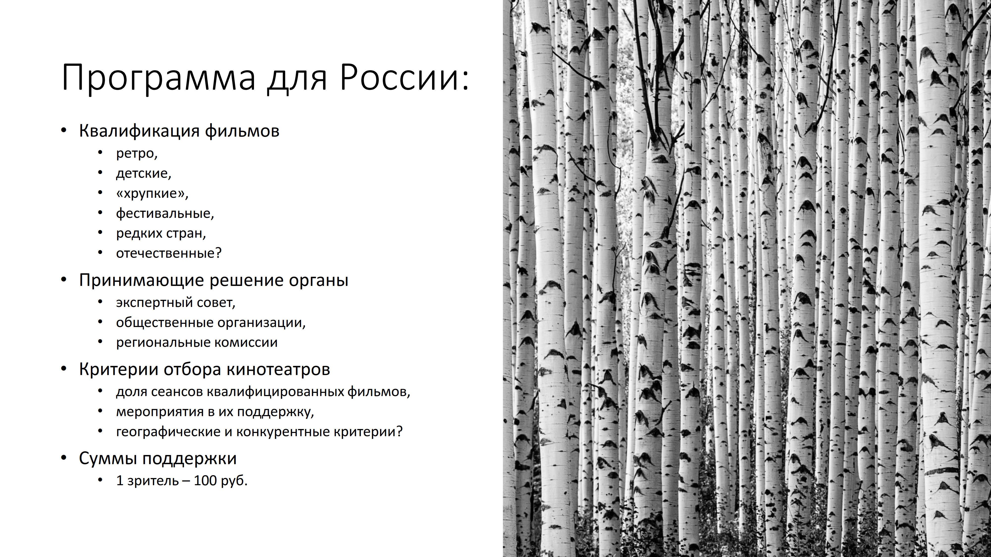 Программа для России